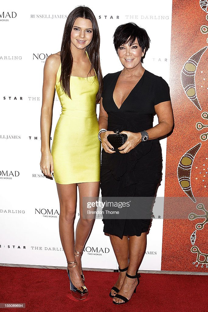 Kendall Jenner and Kris Jenner arrive at the book launch of 'Nomad Two Worlds' by Russell James on November 1 2012 in Sydney Australia