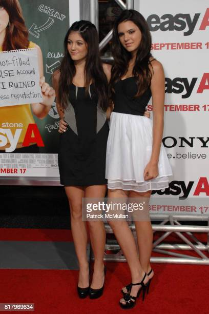 Kendall Jenner and Kylie Jenner attend 'Easy A' World Premiere at Grauman's Chinese Theatre on September 13 2010 in Hollywood California