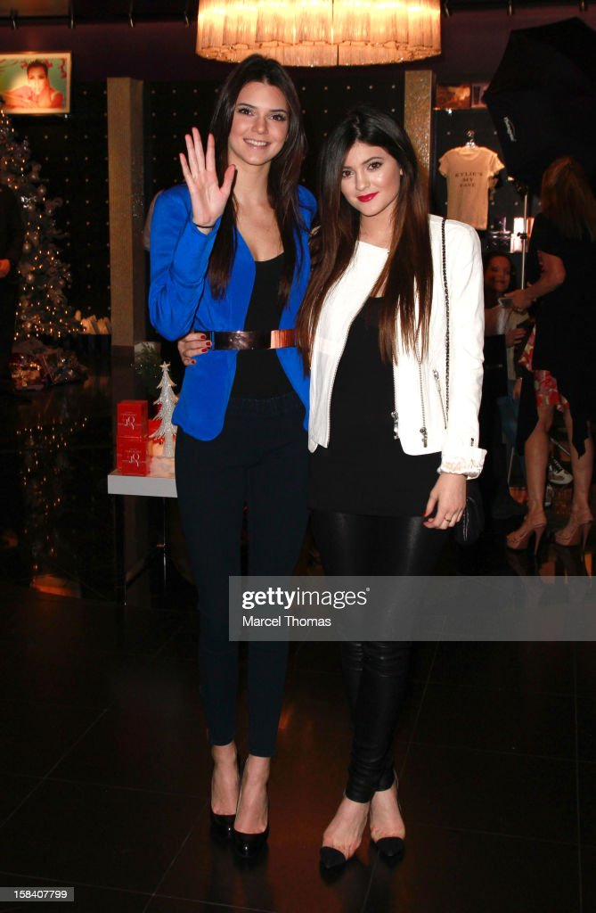 Kendall Jenner and Kylie Jenner host a meet and greet with fans at Kardashian Khaos store inside Mirage Resort and Casino on December 15, 2012 in Las Vegas, Nevada.