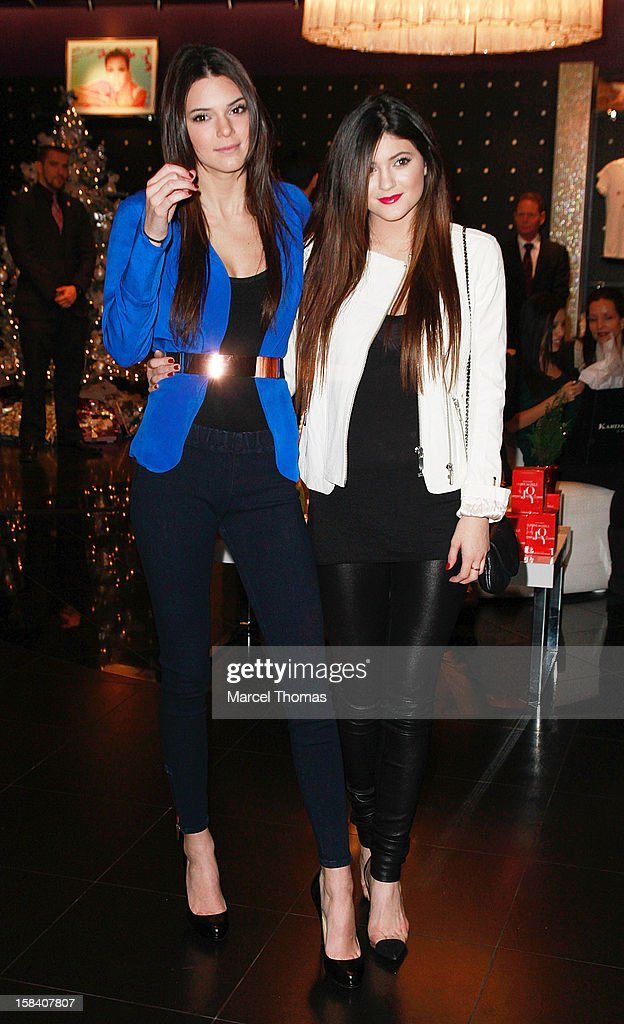 <a gi-track='captionPersonalityLinkClicked' href=/galleries/search?phrase=Kendall+Jenner&family=editorial&specificpeople=2786662 ng-click='$event.stopPropagation()'>Kendall Jenner</a> and <a gi-track='captionPersonalityLinkClicked' href=/galleries/search?phrase=Kylie+Jenner&family=editorial&specificpeople=870409 ng-click='$event.stopPropagation()'>Kylie Jenner</a> host a meet and greet with fans at Kardashian Khaos store inside Mirage Resort and Casino on December 15, 2012 in Las Vegas, Nevada.