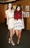Kendall Jenner and Kylie Jenner sign the September issue of 'Seventeen' Magazine held at Barnes Noble 3rd Street Promenade on August 2 2012 in Santa...
