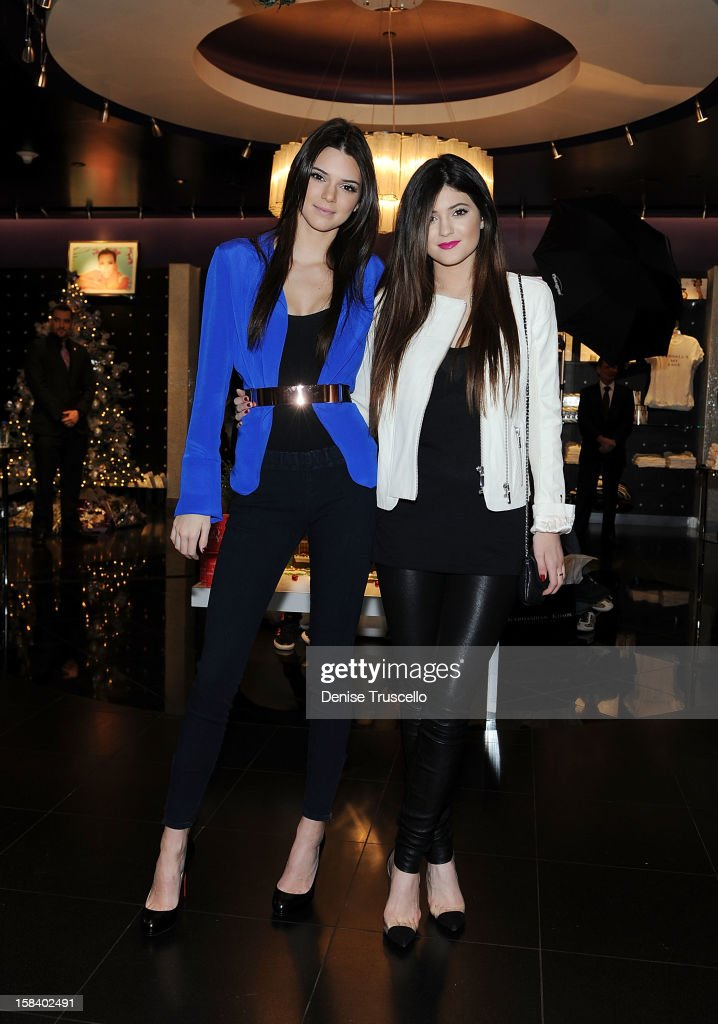 Kendall Jenner and Kylie Jenner visit the Kardashian Khaos store at The Mirage Hotel and Casino on December 15, 2012 in Las Vegas, Nevada.
