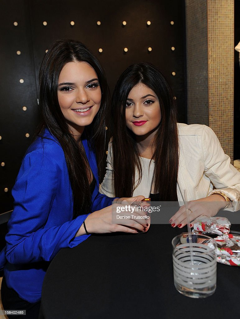 <a gi-track='captionPersonalityLinkClicked' href=/galleries/search?phrase=Kendall+Jenner&family=editorial&specificpeople=2786662 ng-click='$event.stopPropagation()'>Kendall Jenner</a> and <a gi-track='captionPersonalityLinkClicked' href=/galleries/search?phrase=Kylie+Jenner&family=editorial&specificpeople=870409 ng-click='$event.stopPropagation()'>Kylie Jenner</a> visits the Kardashian Khaos store at The Mirage Hotel and Casino on December 15, 2012 in Las Vegas, Nevada.