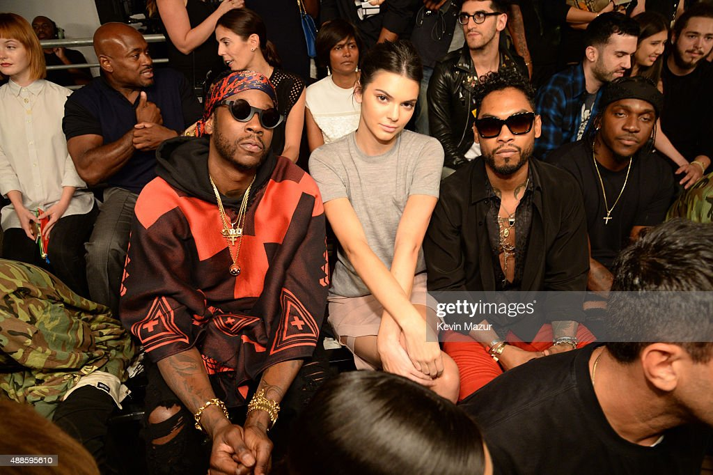 Kendall Jenner and Miguel attend Kanye West Yeezy Season 2 during New York Fashion Week at Skylight Modern on September 16, 2015 in New York City.