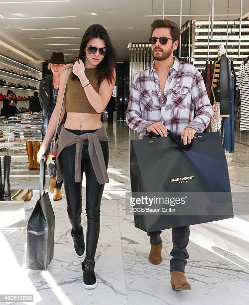 Kendall Jenner and Scott Disick are seen on December 23 2014 in Los Angeles California