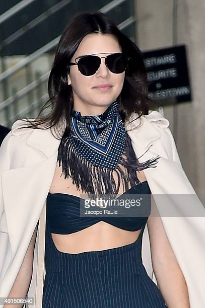 Kendall Jenner arrives at Chanel Fashion Show during the Paris Fashion Week S/S 2016 Day Eight on October 6 2015 in Paris France