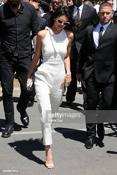 Kendall Jenner arrives at Magnum Beach to attend a Photocall on May 12 2016 in Cannes