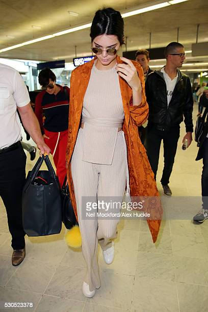 Kendall Jenner arrives at Nice airport ahead of the 69th Annual Cannes Film Festival on May 11 2016 in Nice France