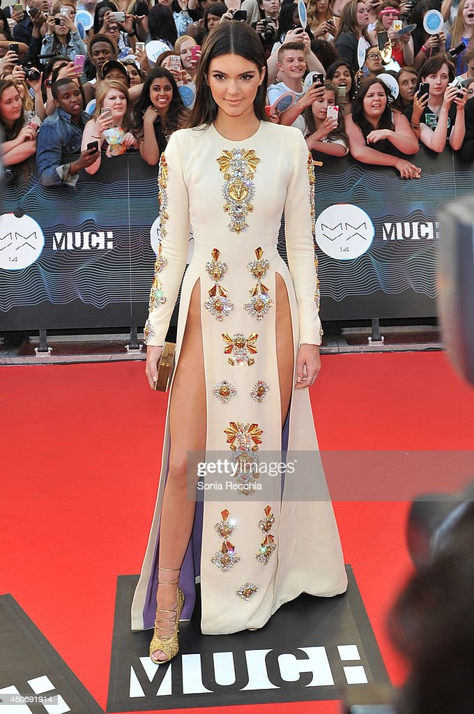 Kendall Jenner arrives at the 2014 MuchMusic Video Awards at MuchMusic HQ on June 15, 2014 in Toronto, Canada.