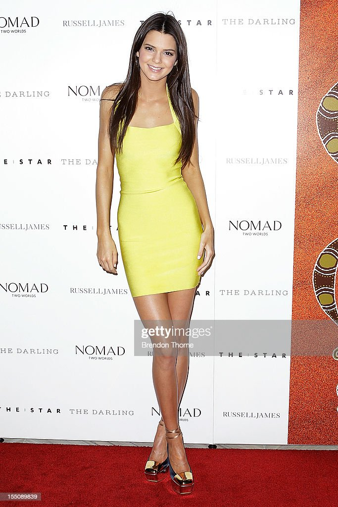 Kendall Jenner arrives at the book launch of 'Nomad Two Worlds' by Russell James on November 1, 2012 in Sydney, Australia.