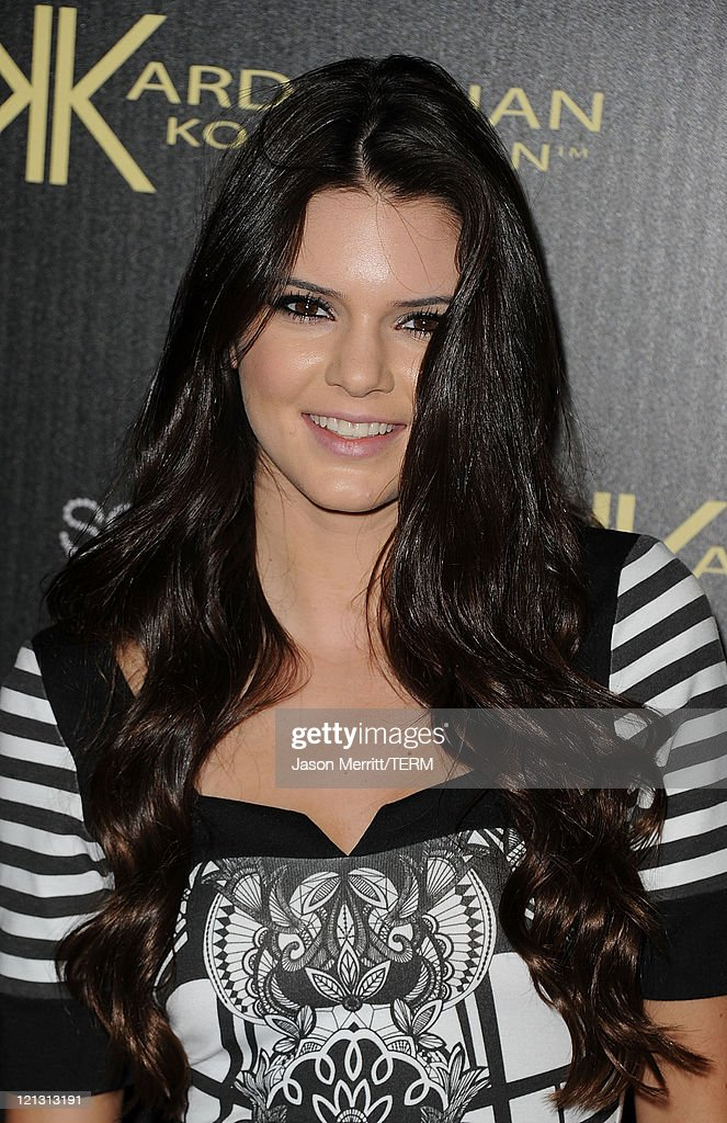 <a gi-track='captionPersonalityLinkClicked' href=/galleries/search?phrase=Kendall+Jenner&family=editorial&specificpeople=2786662 ng-click='$event.stopPropagation()'>Kendall Jenner</a> arrives at the red carpet of the Kardashian Kollection Launch Party on August 17, 2011 in Hollywood, California.