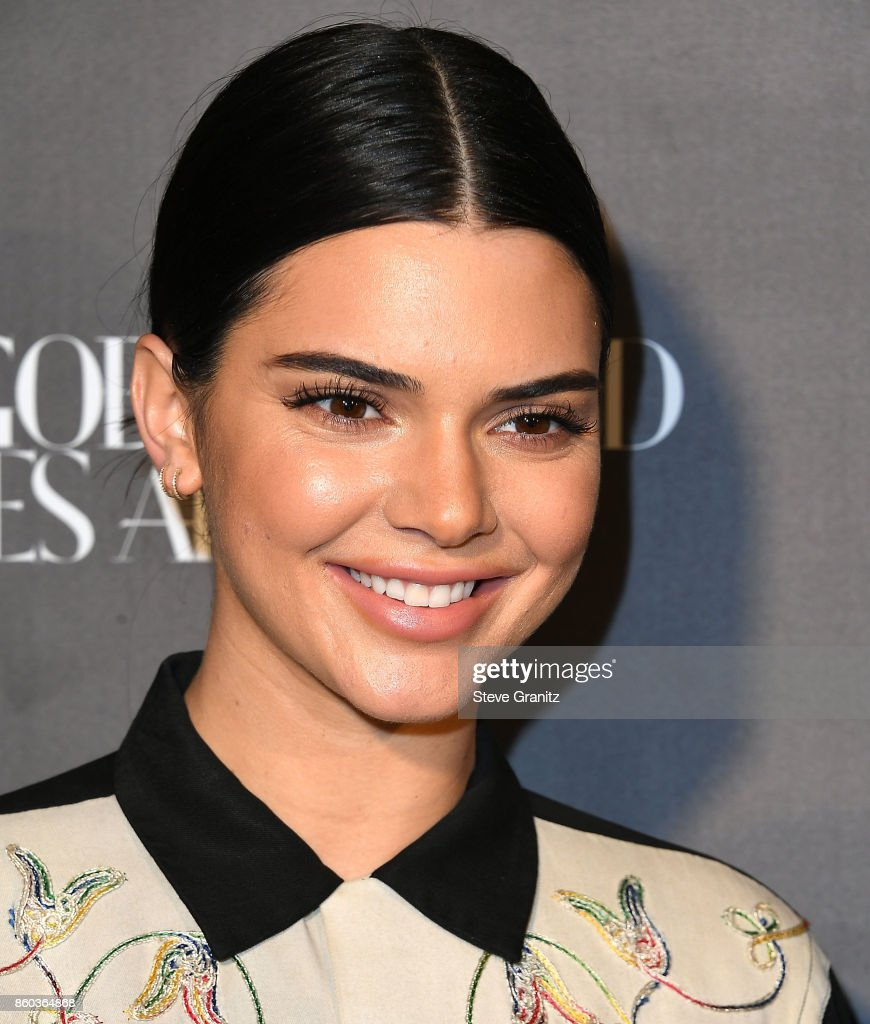 Kendall Jenner arrives at the What Goes Around Comes Around One Year Anniversary at What Goes Around Comes Around on October 11, 2017 in Beverly Hills, California.