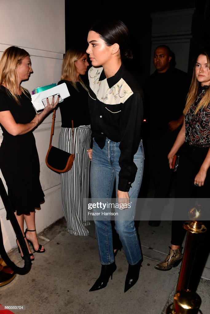 Kendall Jenner at What Goes Around Comes Around on October 11, 2017 in Beverly Hills, California.