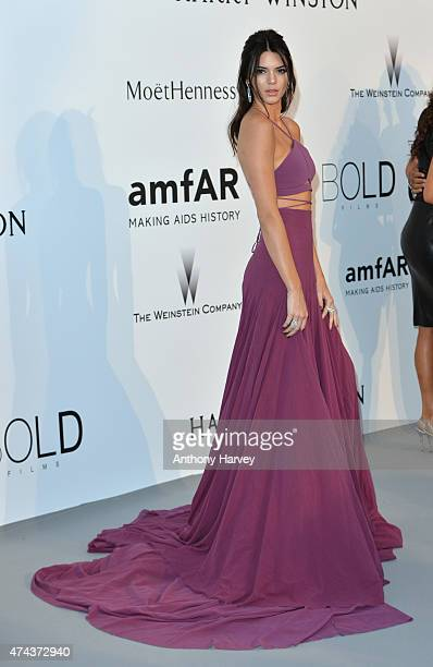 Kendall Jenner attend amfAR's 22nd Cinema Against AIDS Gala Presented By Bold Films And Harry Winston at Hotel du CapEdenRoc on May 21 2015 in Cap...