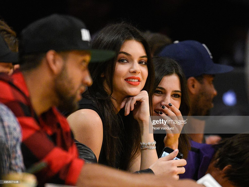 Kendall Jenner attends a basketball game between the Dallas Mavericks and the Los Angeles Lakers at Staples Center on November 1 2015 in Los Angeles...