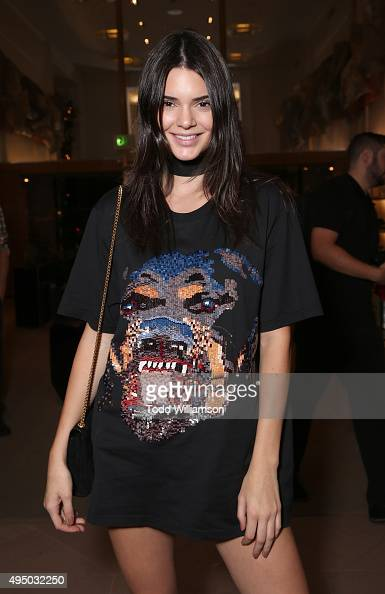 Kendall Jenner attends a Del Toro Chandler Parsons Event at Saks Fifth Avenue Beverly Hills on October 30 2015 in Beverly Hills California