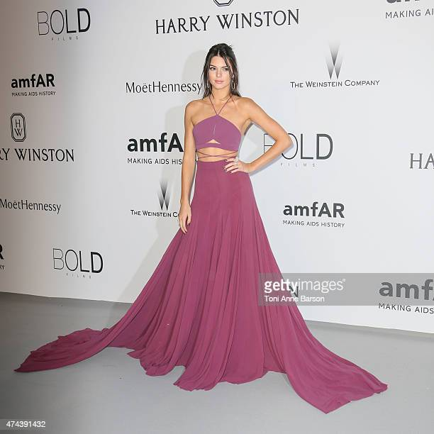 Kendall Jenner attends amfAR's 22nd Cinema Against AIDS Gala Presented By Bold Films And Harry Winston at Hotel du CapEdenRoc on May 21 2015 in Cap...