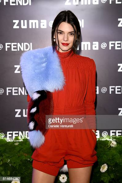 Kendall Jenner attends Palazzo FENDI And ZUMA Inauguration on March 10 2016 in Rome Italy