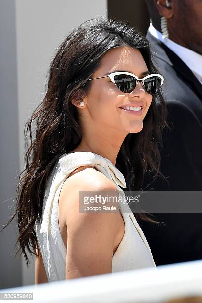 Kendall Jenner attends press conference at Magnum Beach during the annual 69th Cannes Film Festival at on May 12 2016 in Cannes France