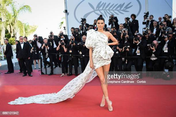 Kendall Jenner attends the '120 Beats Per Minute ' premiere during the 70th annual Cannes Film Festival at Palais des Festivals on May 20 2017 in...