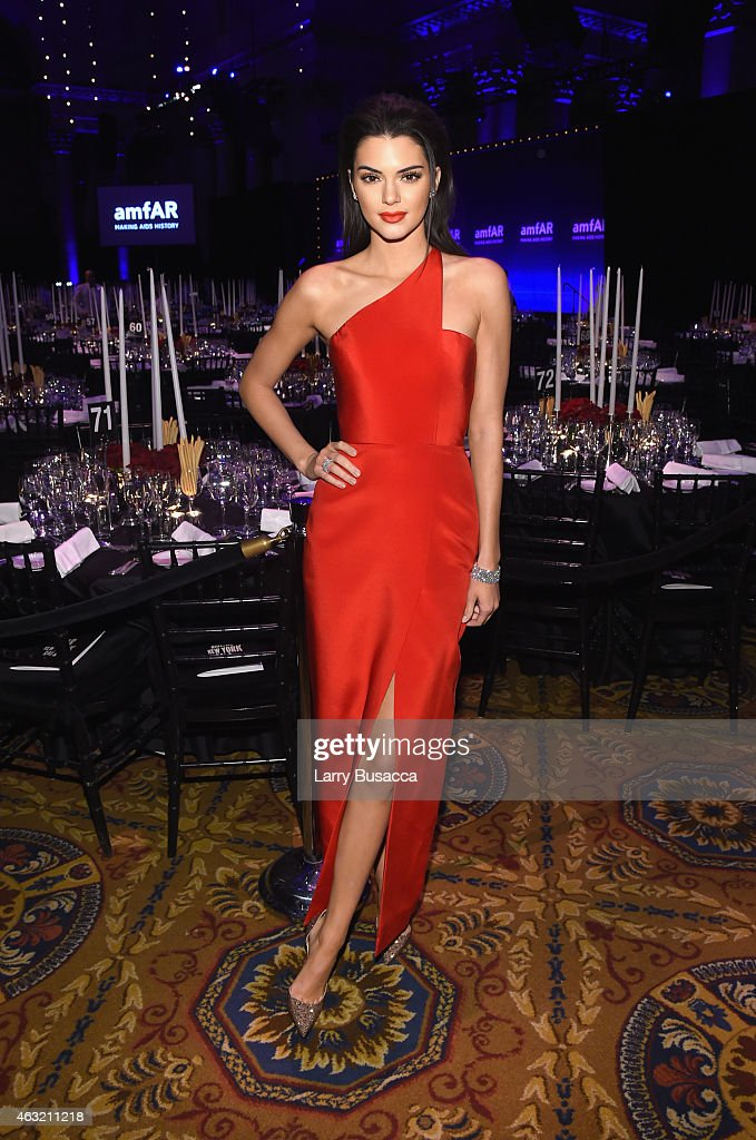 <a gi-track='captionPersonalityLinkClicked' href=/galleries/search?phrase=Kendall+Jenner&family=editorial&specificpeople=2786662 ng-click='$event.stopPropagation()'>Kendall Jenner</a> attends the 2015 amfAR New York Gala at Cipriani Wall Street on February 11, 2015 in New York City.