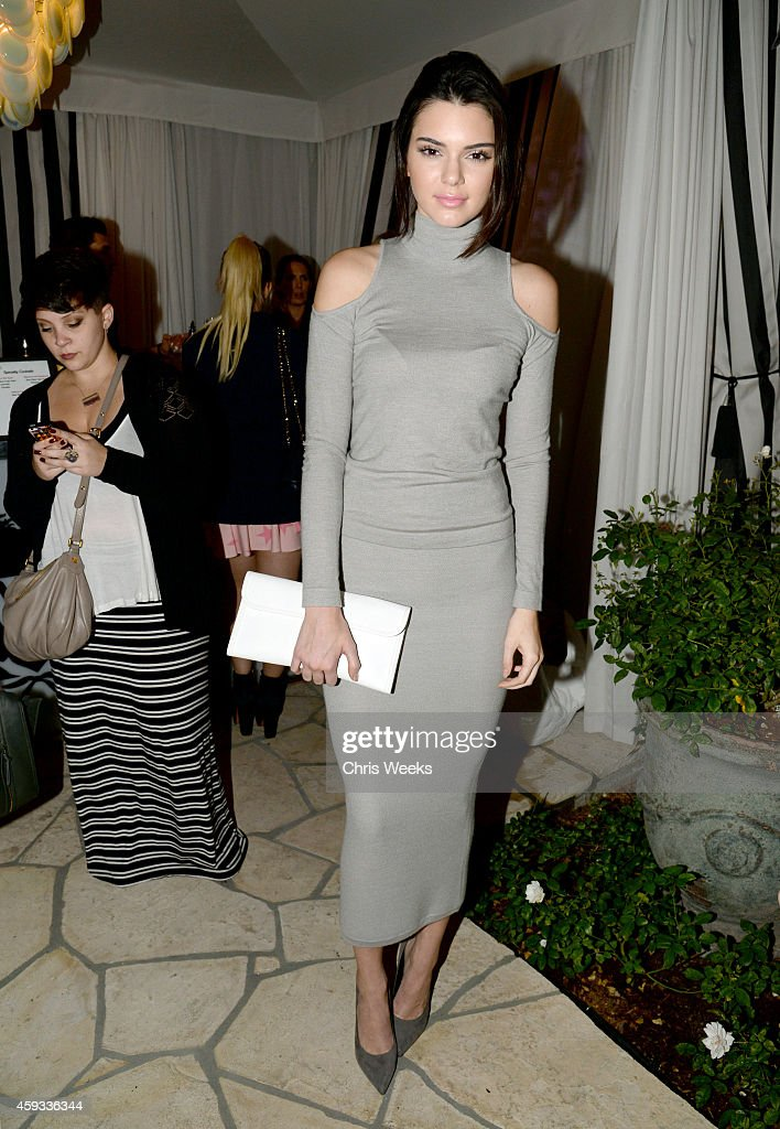 Kendall Jenner attends the Barbie Loves Wildfox party celebrating the Resort 2014 collaboration launch at the Wildfox Flagship Store on November 20...