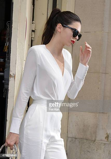 Kendall Jenner Attends the Chanel show as part of Paris Fashion Week Haute Couture Fall/Winter 2015/2016 on July 7 2015 in Paris France