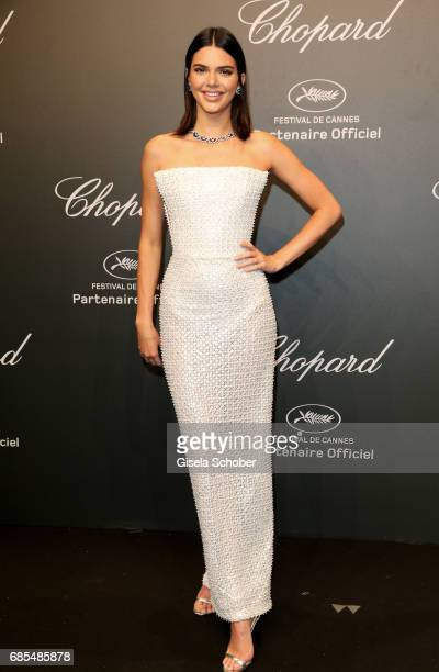 """Kendall Jenner attends the Chopard """"SPACE Party"""" hosted by Chopard's copresident Caroline Scheufele and Rihanna at Port Canto on May 19 in Cannes..."""