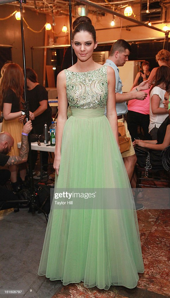 <a gi-track='captionPersonalityLinkClicked' href=/galleries/search?phrase=Kendall+Jenner&family=editorial&specificpeople=2786662 ng-click='$event.stopPropagation()'>Kendall Jenner</a> attends the Evening Sherri Hill spring 2013 fashion show during Mercedes-Benz Fashion Week at Trump Tower Grand Corridor on September 7, 2012 in New York City.