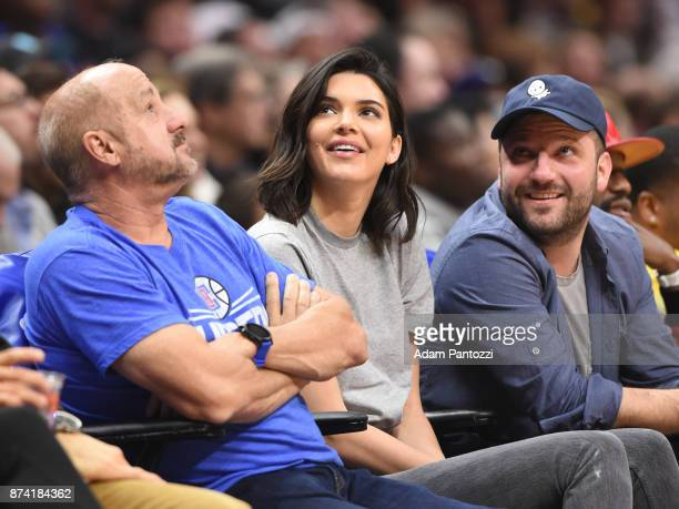 Kendall Jenner attends the game between the Philadelphia 76ers and LA Clippers on November 13 2017 at STAPLES Center in Los Angeles California NOTE...
