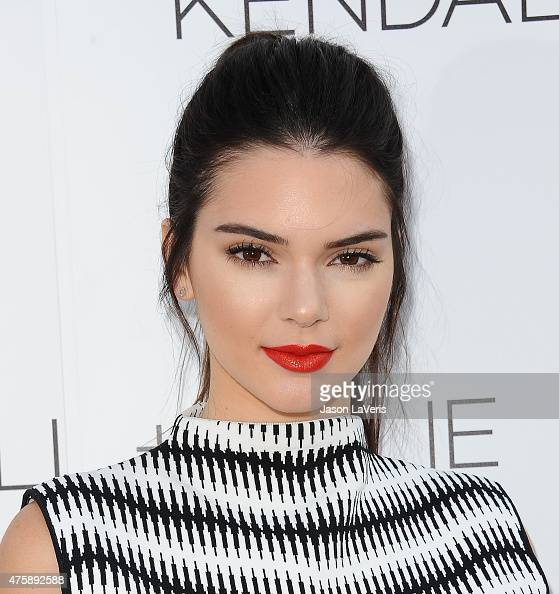 Kendall Jenner attends the Kendall Kylie fashion line launch party at TopShop on June 3 2015 in Los Angeles California