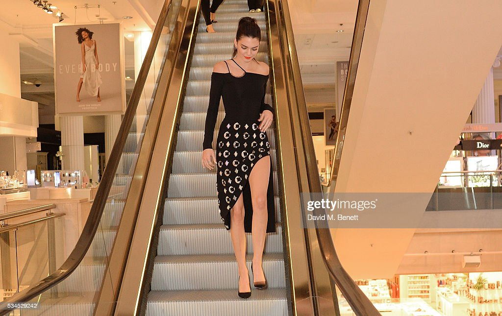 <a gi-track='captionPersonalityLinkClicked' href=/galleries/search?phrase=Kendall+Jenner&family=editorial&specificpeople=2786662 ng-click='$event.stopPropagation()'>Kendall Jenner</a> attends the Launch of The Estee Edit at London's Selfridges on May 26, 2016 in London, England.