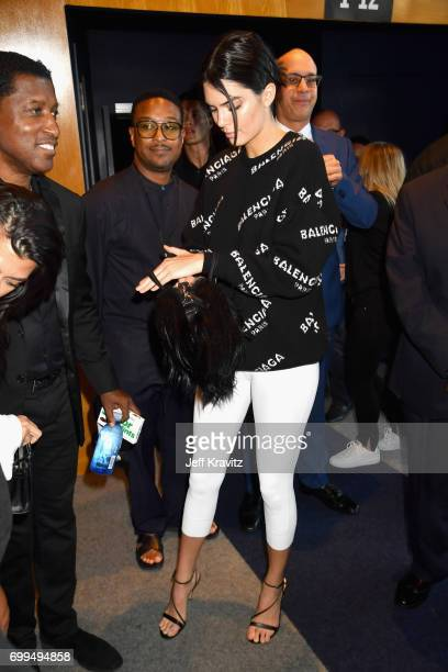 Kendall Jenner attends the Los Angeles Premiere of Apple Music's CAN'T STOP WON'T STOP A BAD BOY STORY at The WGA Theater on June 21 2017 in Beverly...