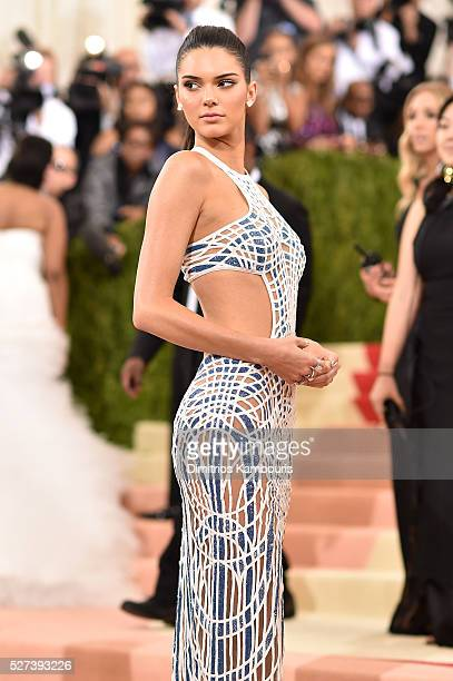 Kendall Jenner attends the 'Manus x Machina Fashion In An Age Of Technology' Costume Institute Gala at Metropolitan Museum of Art on May 2 2016 in...