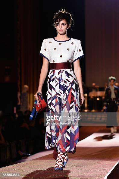 Kendall Jenner attends the Marc Jacobs Spring 2016 fashion show during New York Fashion Week at Ziegfeld Theater on September 17 2015 in New York City