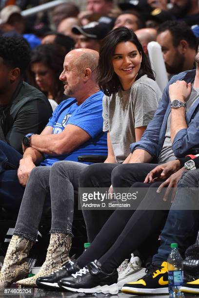 Kendall Jenner attends the Philadelphia 76ers game against the LA Clippers on November 13 2017 at STAPLES Center in Los Angeles California NOTE TO...