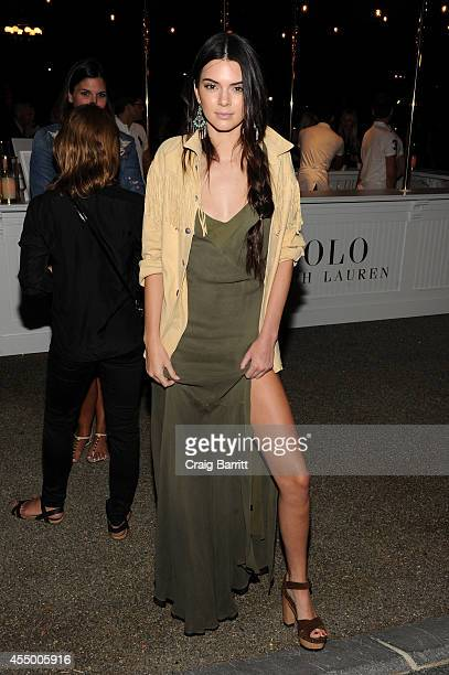 Kendall Jenner attends the Polo Ralph Lauren fashion show during MercedesBenz Fashion Week Spring 2015 at Cherry Hill in Central Park on September 8...