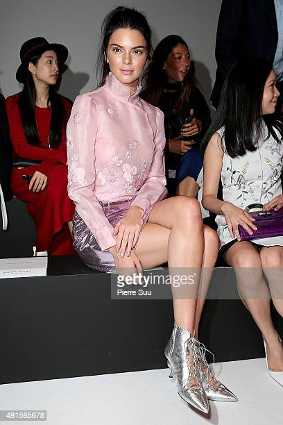 Kendall Jenner attends the Shiatzy Chen show as part of the Paris Fashion Week Womenswear Spring/Summer 2016 on October 6 2015 in Paris France