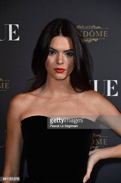 Kendall Jenner attends the Vogue 95th Anniversary Party on October 3 2015 in Paris France