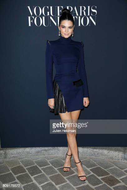 Kendall Jenner attends Vogue Foundation Dinner during Paris Fashion Week as part of Haute Couture Fall/Winter 20172018 at Musee Galliera on July 4...
