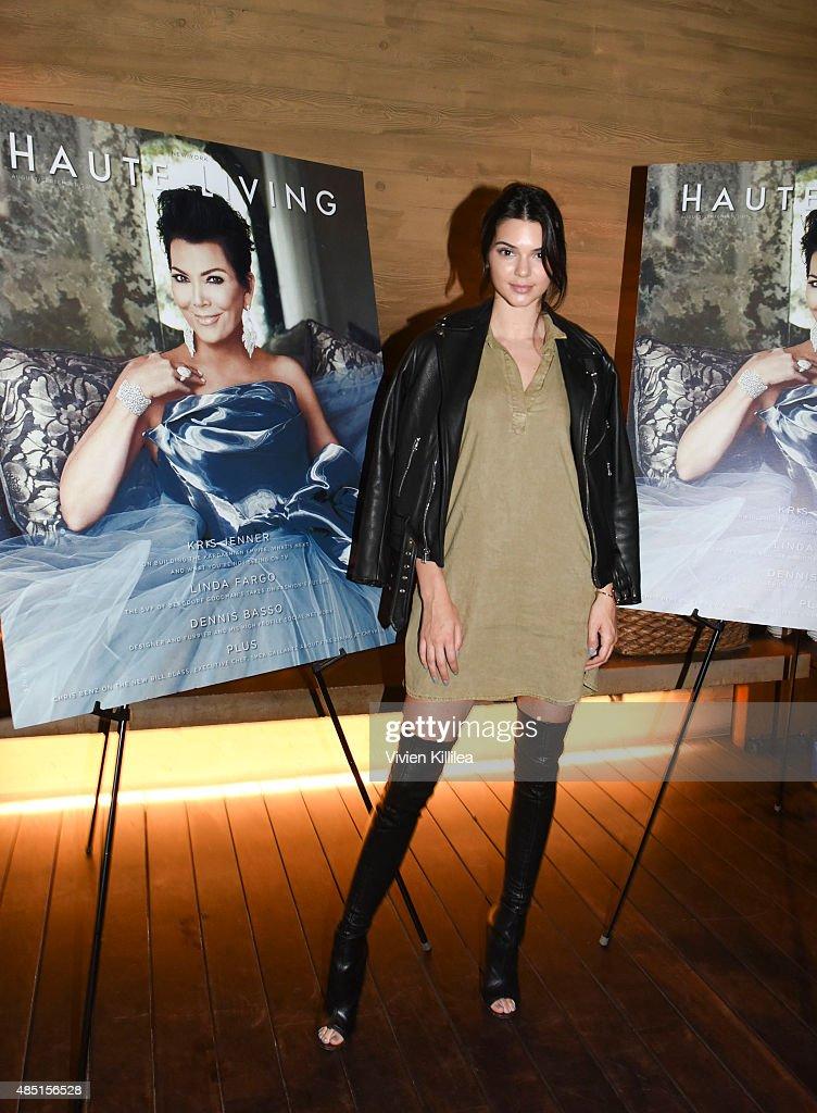 Kendall Jenner attends Westime Celebrates Kris Jenner's Haute Living Cover at Nobu Malibu on August 24 2015 in Malibu California