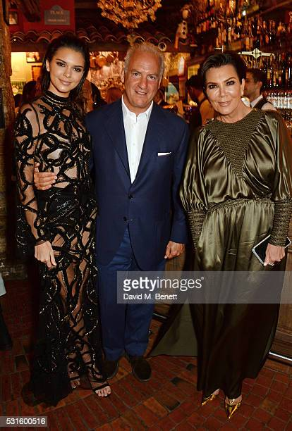 Kendall Jenner Charles Finch and Kris Jenner attend a starstudded dinner hosted by DEAN DELUCA Harvey Weinstein Charles Finch to celebrate Robert De...