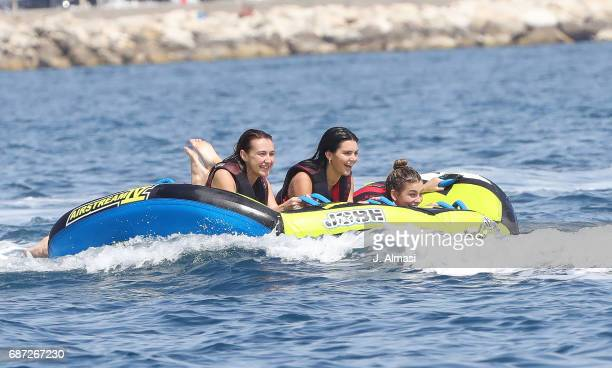 Kendall Jenner Hailey Baldwin and a friend are spotted during the 70th annual Cannes Film Festival at on May 23 2017 in Cannes France