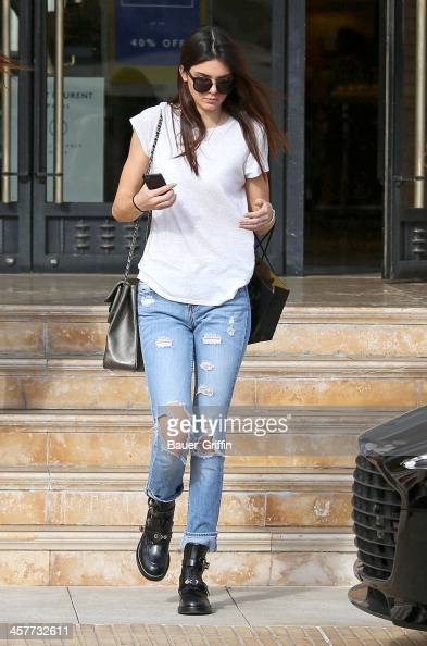 Kendall Jenner is seen as she leaves Barneys New York on December 18 2013 in Los Angeles California