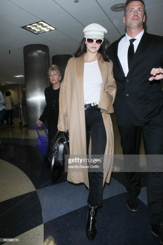 Kendall Jenner is seen at LAX on March 13, 2017 in Los Angeles, California.