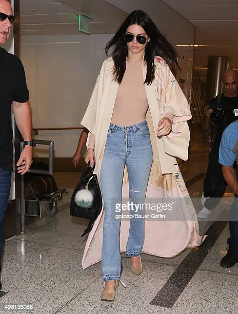 Kendall Jenner is seen at LAX on October 17 2015 in Los Angeles California