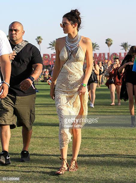 Kendall Jenner is seen at The Coachella Valley Music and Arts Festival on April 15 2016 in Los Angeles California