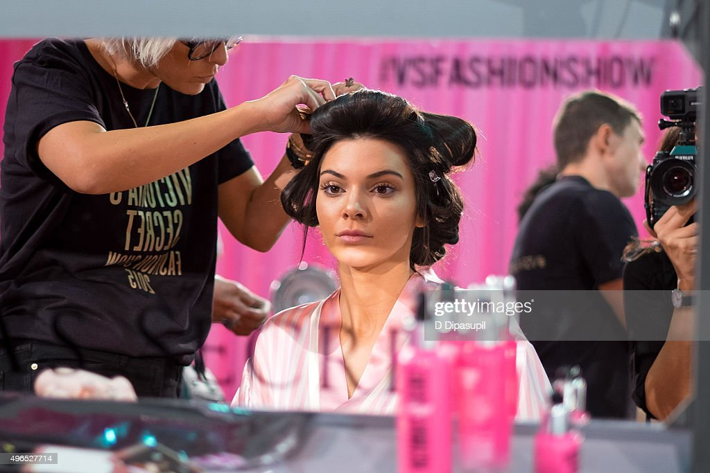 kendall jenner is seen backstage at the 2015 victoria s secret fashion