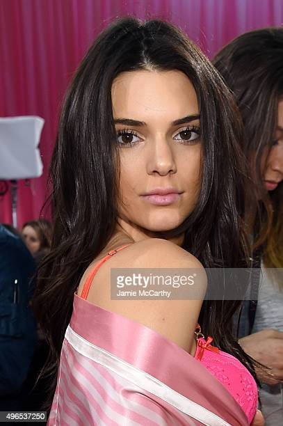 Kendall Jenner is seen backstage before the 2015 Victoria's Secret Fashion Show at Lexington Avenue Armory on November 10 2015 in New York City