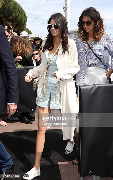 Kendall Jenner is seen leaving the Fendi beach club during the 68th annual Cannes Film Festival on May 21 2015 in Cannes France